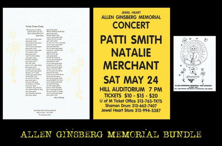 Program, Broadside & Ephemera for Allen Ginsberg Memorial and Concert, May 24, 1997 at Ann Arbor....
