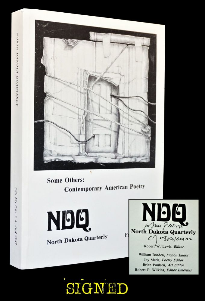 North Dakota Quarterly, Vol. 55, No. 4, Fall 1987. Robert W. Lewis, Paul Christensen, Robert...