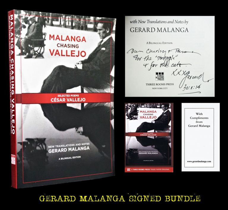 Malanga Chasing Vallejo: Selected Poems: Cesar Vallejo, New Translations and Notes. Gerard Malanga, Charles Plymell, Pamela Beach Plymell.