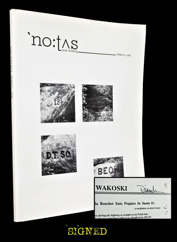 NOTUS new writing Vol. 5 No. 1 (Spring 1990). Pat Smith, Marla Huber Smith, Paul Blackburn,...