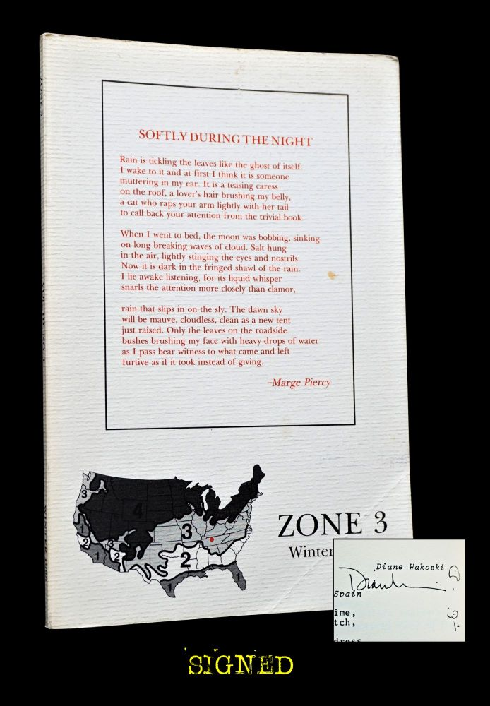 Zone 3 Vol. III No. 1 (Winter 1988). Malcolm Glass, David Till, Theresa May, Marge Piercy, Diane...