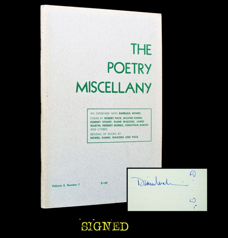 The Poetry Miscellany Vol. 2 No. 1 (Fall/Winter, 1972-73). Barbara Howes, Maxine Kumin, Sharon...