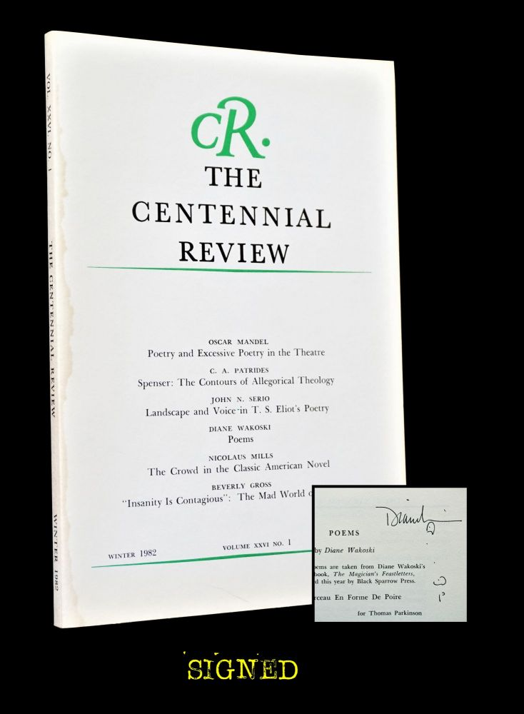 The Centennial, Review Vol. XXVI No. 1. David Mead, Beverly Gross, Oscar Mandel, Nicolaus Mills,...