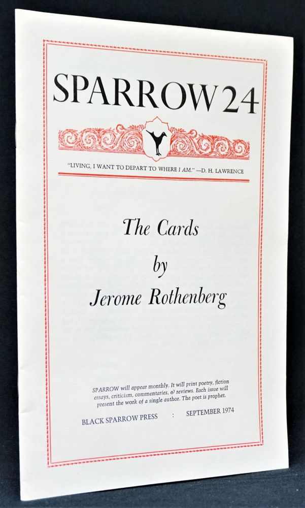 Sparrow 24: The Cards by Jerome Rothenberg. Jerome Rothenberg