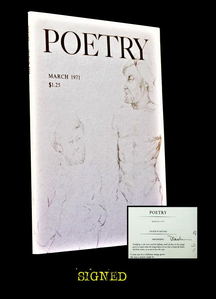Poetry Vol. 117 No. 6 (March 1971). Daryl Hine, Jon Anderson, Joseph Bennett, Kathleen Spivack,...