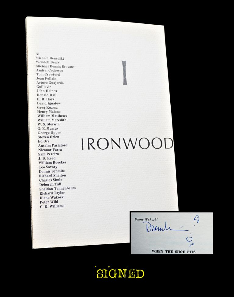 Ironwood 1 (Spring 1972). Michael Cuddihy, Wendell Berry, Scott Chisolm, Andrei Codrescu, Donald...