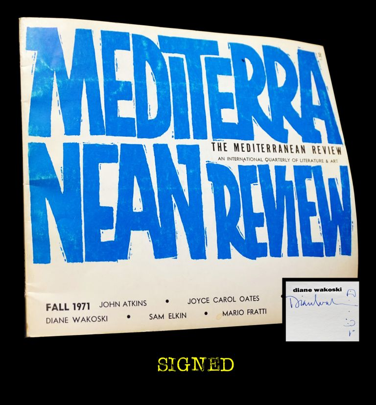 The Mediterranean Review Vol. II No. I (Fall 1971). Robert DeMaria, John Atkins, Sam Elkin, Mario...