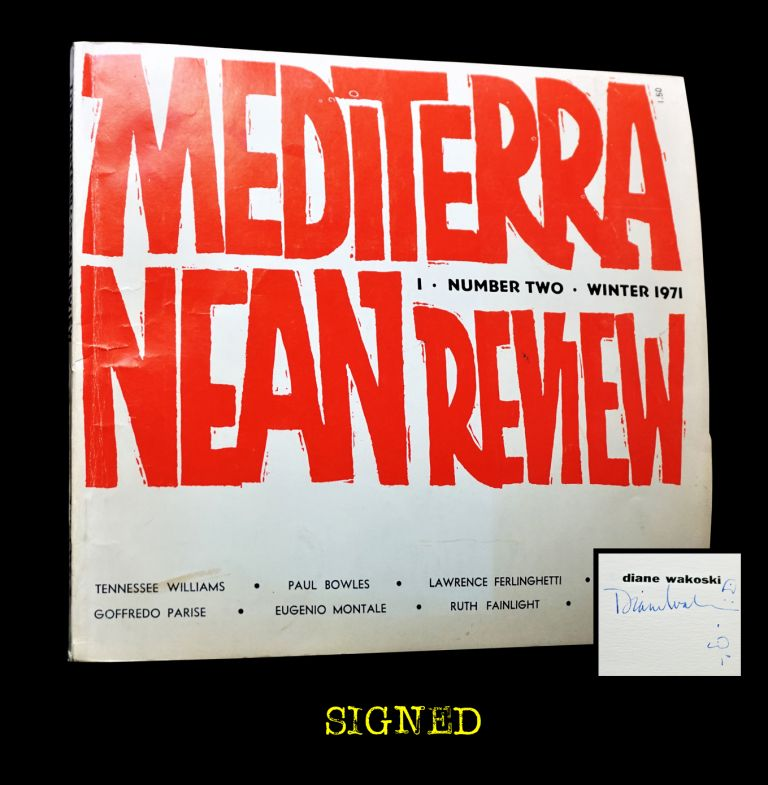The Mediterranean Review Vol. I No. 2 (Winter 1971). Robert DeMaria, Ann Birstein, Paul Bowles,...