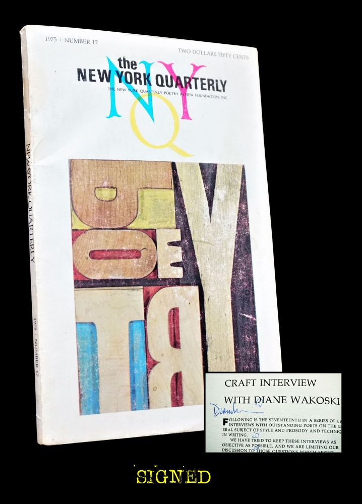 The New York Quarterly No. 17 (1975). William Packard, A. R. Ammons, John Ashbery, Charles...