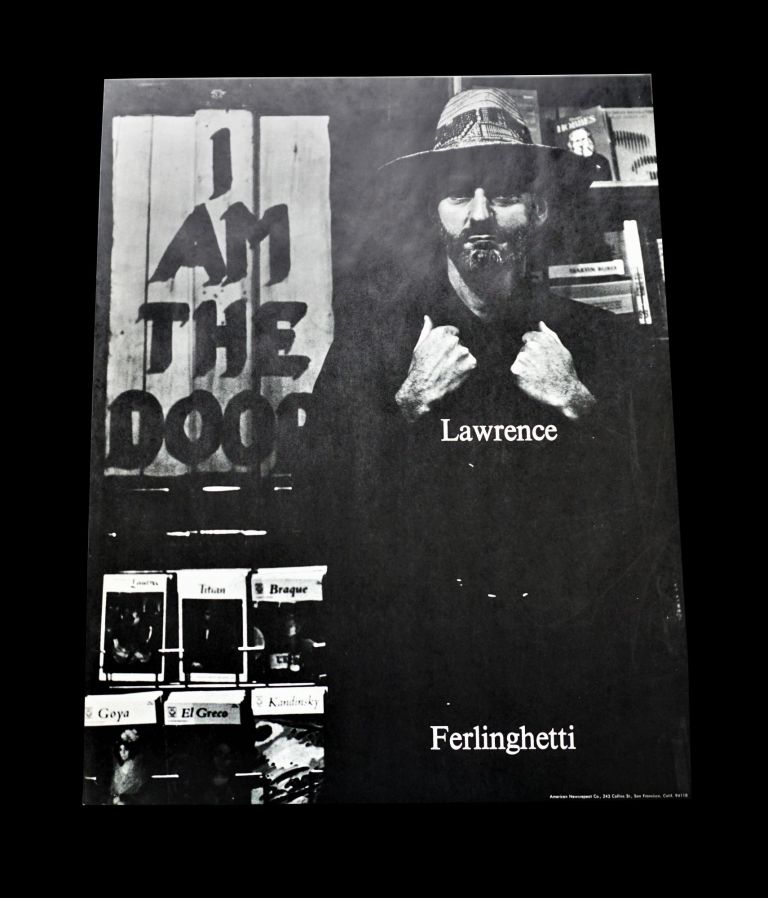 "Poster: ""I Am the Door"" Lawrence Ferlinghetti"