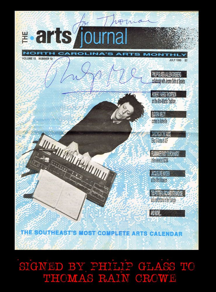 The Arts Journal: North Carolina Arts Monthly Vol. 15 No. 10 (July 1990). Thomas Rain Crowe,...
