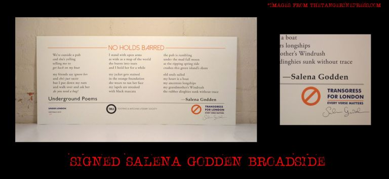 """No Holds Barred"" Broadside. Salena Godden"
