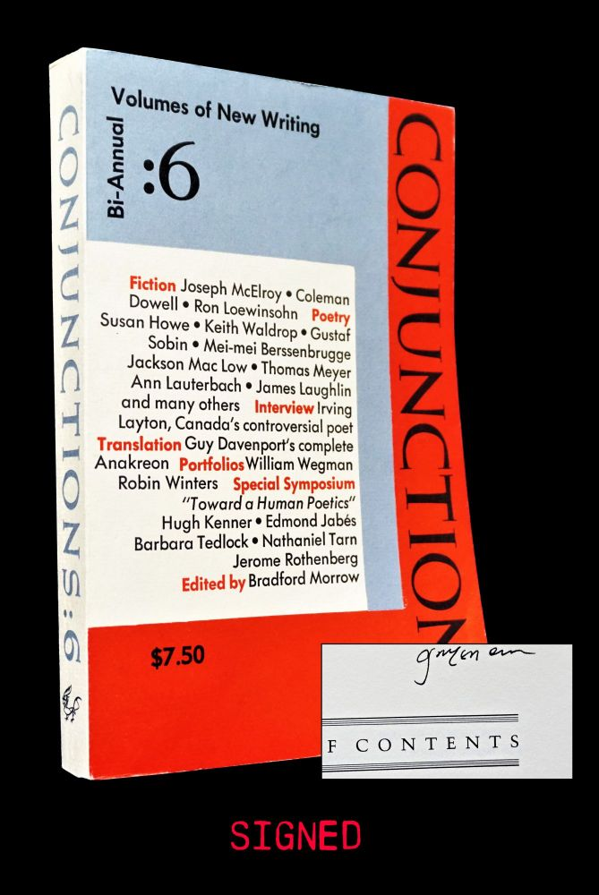 Conjunctions: 6. Bradford Morrow, Theodore Enslin, Clayton Eshleman, Jackson Mac Low, James...