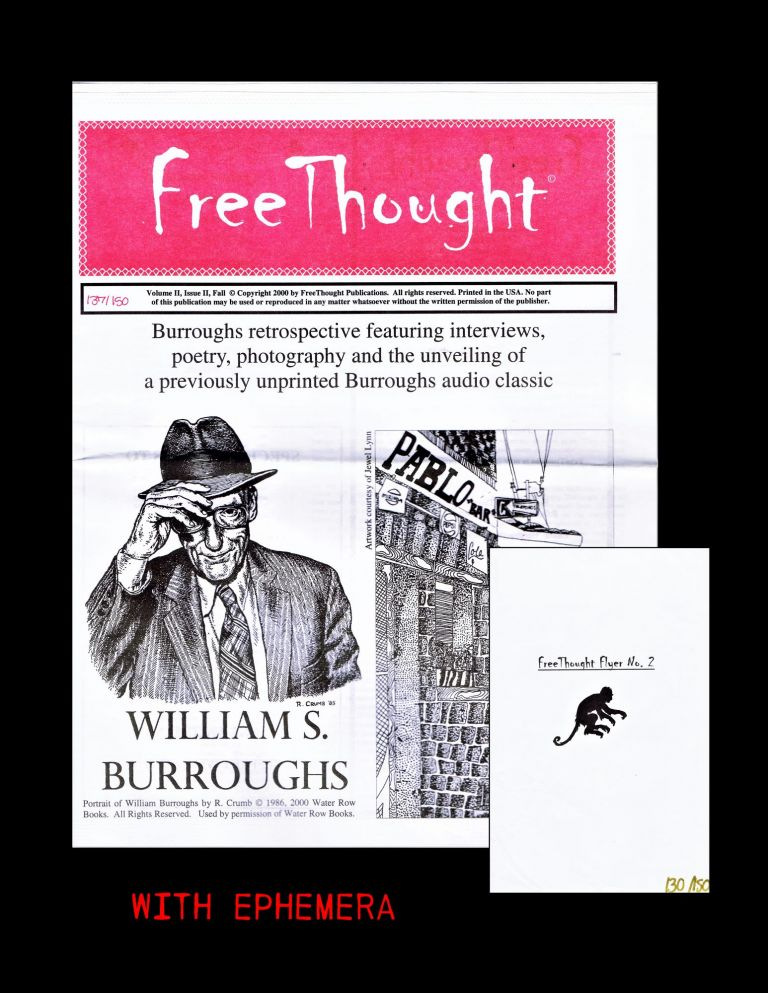 FreeThought Vol. II Issue II (Fall 2000) with: FreeThought Flyer No. 2. Gary Aposhian, William...