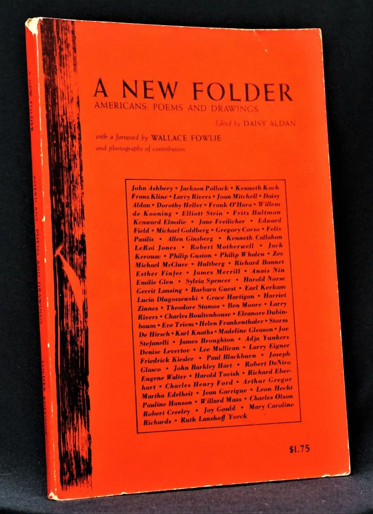 A New Folder: Americans: Poems and Drawings. Daisy Aldan, John Ashbery, Paul Blackburn, Gregory...