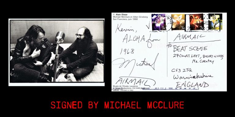 Original Postcard. Michael McClure