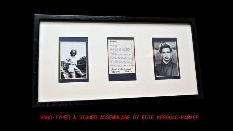 Postcard Hand-Typed & Signed with photographs. Edie Kerouac Parker, Jack Kerouac.