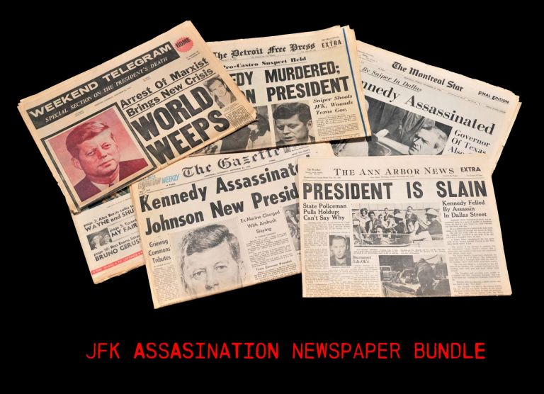 JFK Assassination Newspaper Collection. John F. Kennedy.