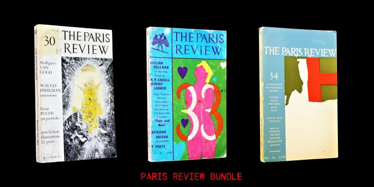 The Paris Review No. 34 (Spring-Summer 1965) with: Bonus Issues. George Plimpton, Olga Carlisle, Paul Caroll, Robert Creeley, Simone de Beauvoir, Madeleine Gobeil, Lillian Hellman, Man Ray, Laura Mathews, Gary Snyder, Jean Tinguely, Philip Whalen, John Wieners, Yevgeny Yevtushenko.