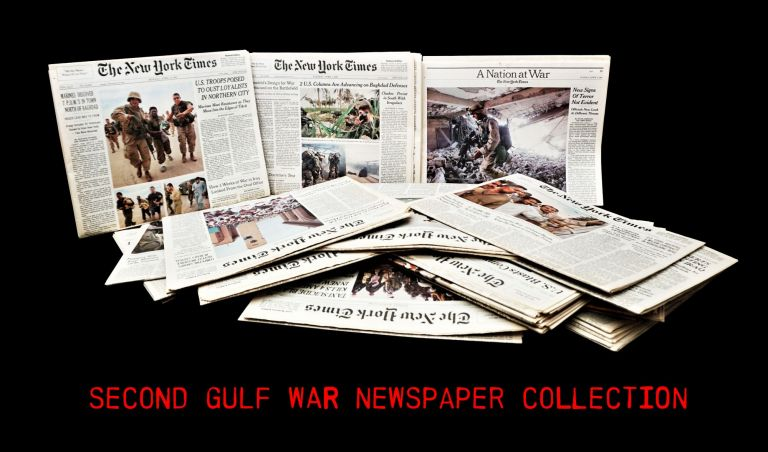 Second Gulf War Newspaper Collection. George W. Bush, Second Gulf War
