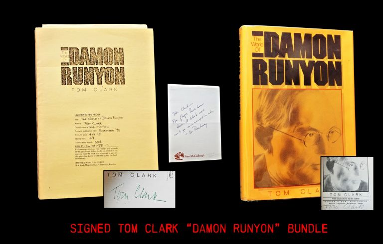 The World of Damon Runyon (Two Editions + Ephemera). Tom Clark.