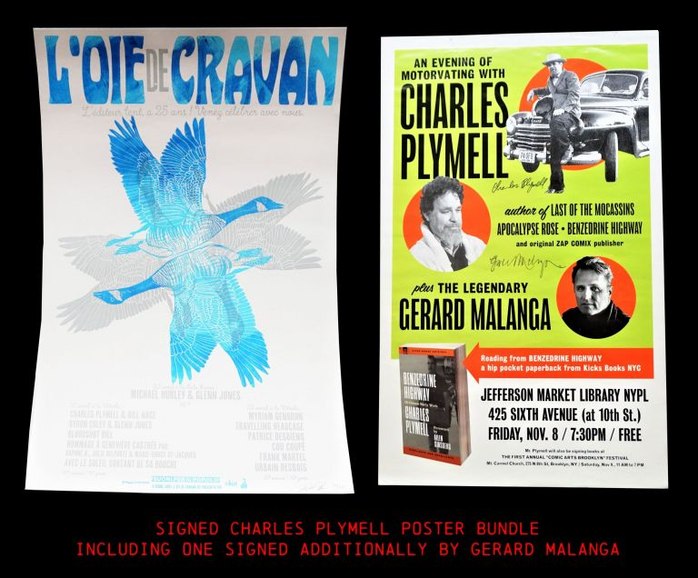Two Signed Posters. Charles Plymell, Gerard Malanga