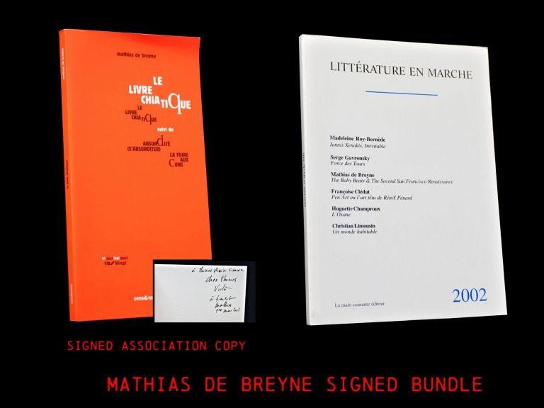 Litterature en Marche 2002 with: Le Livre Chiatique. Thomas Rain Crowe, Neeli Cherkovski, Philip...