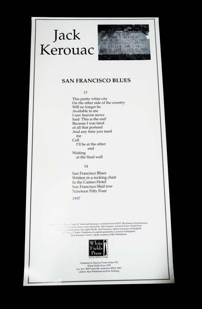 "Broadside: ""San Francisco Blues 13 and 14"" Jack Kerouac"