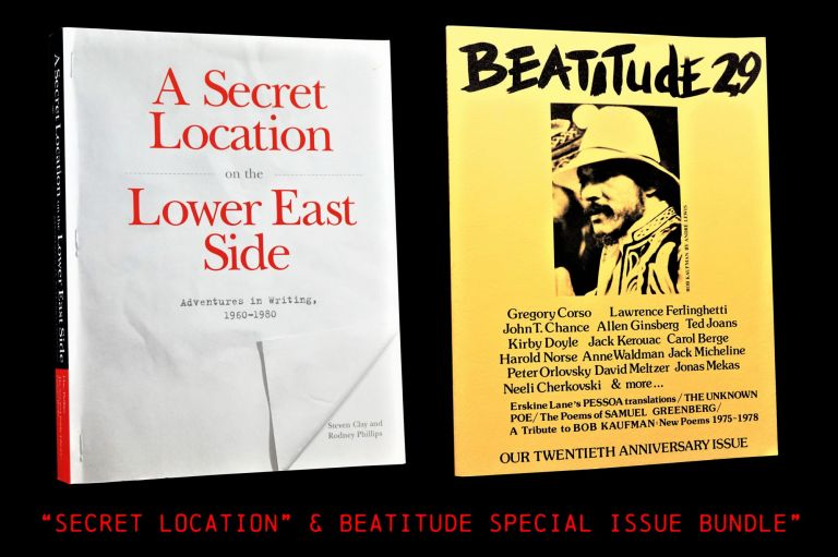 1) A Secret Location on the Lower East Side: Adventures in Writing (1960-1980), w/(2) Beatitude...