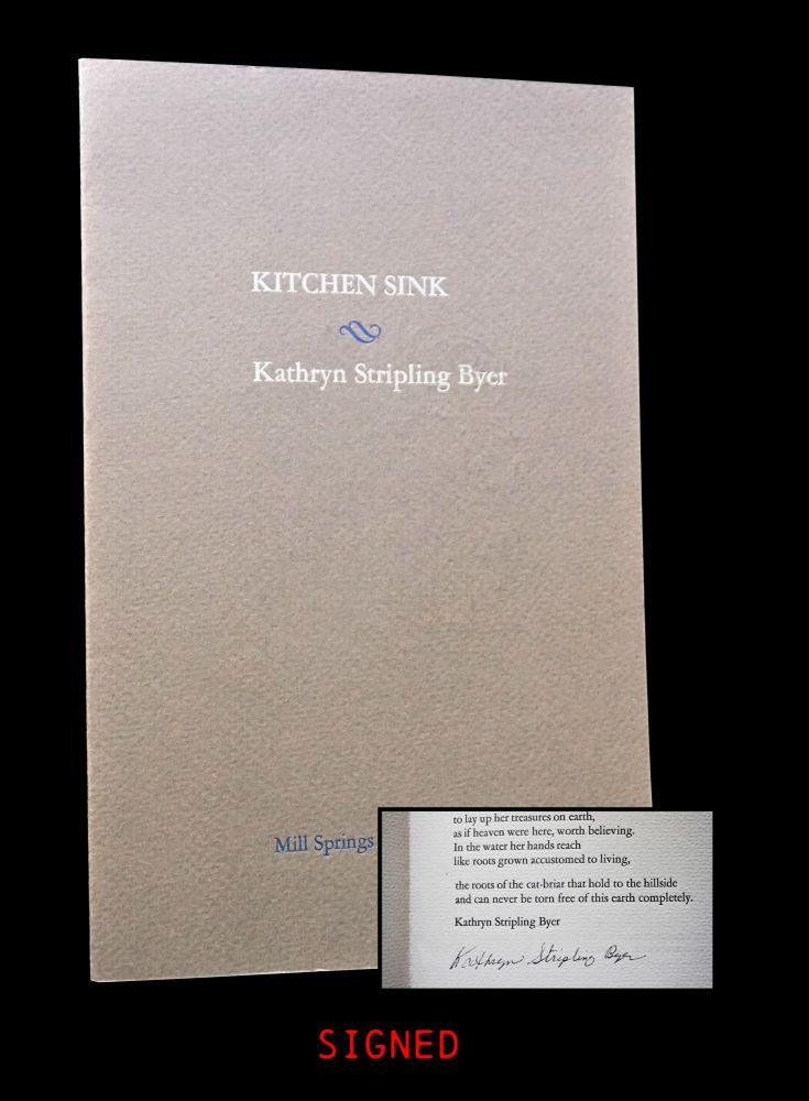"Broadside: ""Kitchen Sink"" Kathryn Stripling Byer"