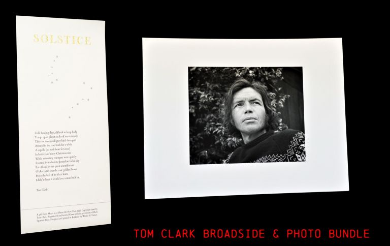 "Broadside: ""Solstice"" with: Original Photograph. Tom Clark"