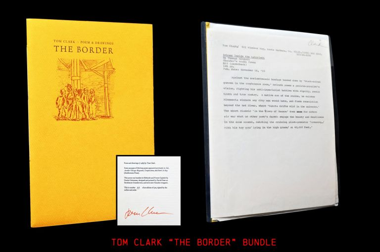 The Border: Poem & Drawings with: Ephemera. Tom Clark