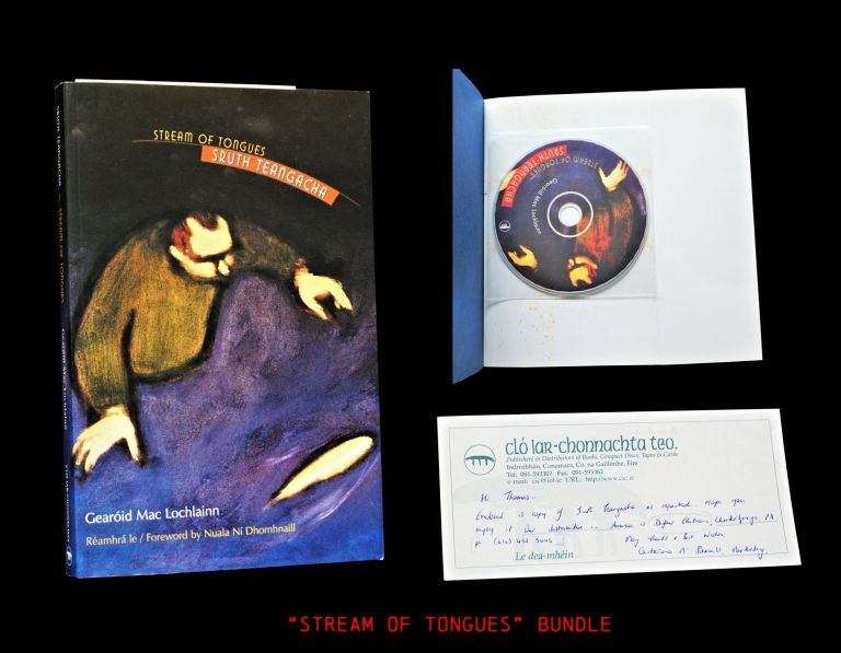 Stream of Tongues (Sruth Teangacha) including: Compact Disc, Ephemera. Gearoid Mac Lochlainn