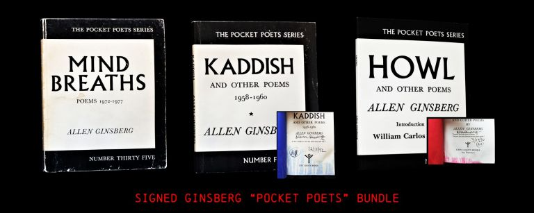 An Allen Ginsberg Bundle: Howl and Other Poems, with: Kaddish and Other Poems, with: Mind...