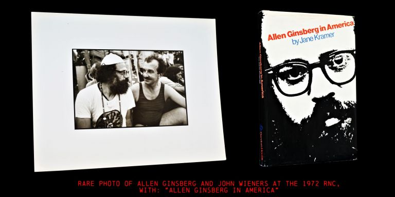 Original Photograph of Allen Ginsberg with John Wieners with: Allen Ginsberg in America. Allen...
