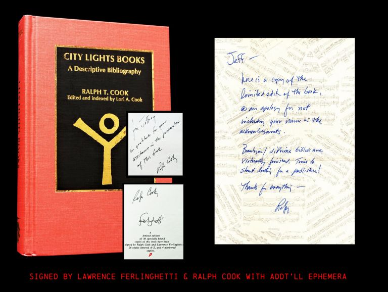 City Lights Books: A Descriptive Bibliography. Ralph T. Cook, Lawrence Ferlinghetti