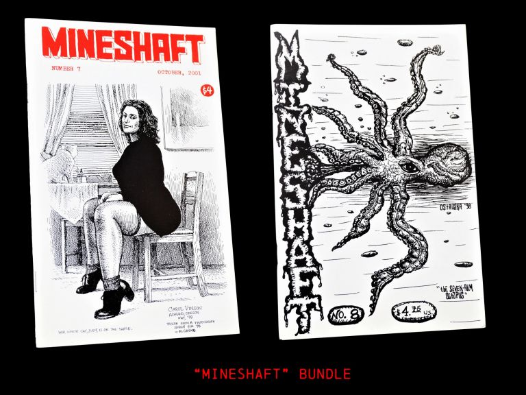 Mineshaft No. 7 (October 2001) with: Mineshaft No. 8 (April 2002). Robert Crumb, Darlene Fife, James Joyce, Irving Stettner, Tommy Trantino.