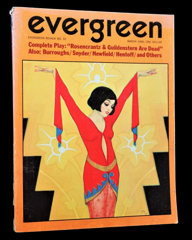 Evergreen Review Vol. 12 No. 52 (March 1968). Barney Rosset, William S. Burroughs, Nat Hentoff, John Lahr, Jack Newfield, Gary Snyder, Tom Stoppard, Ann Weisman.