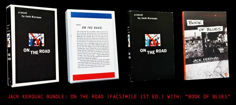 On the Road (Facsimile First Edition in Slipcase) with: Book of Blues. Jack Kerouac.
