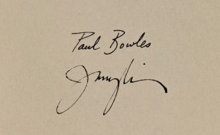 Paul Bowles A Descriptive Bibliography