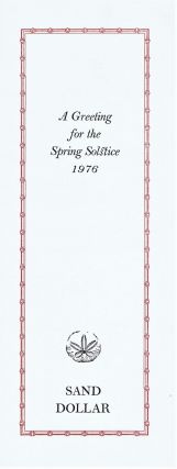 A Greeting for the Spring Solstice 1976