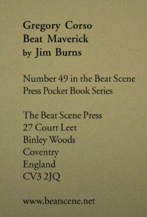 Gregory Corso: Beat Maverick