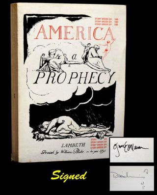 America: A Prophecy -- Stony Brook 3/4 (w/Original Subscription Card/Flyer & Accompanying Envelope)