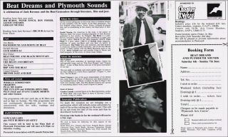 "Broadside Flyer for ""Beat Dreams and Plymouth Sounds"" Event"
