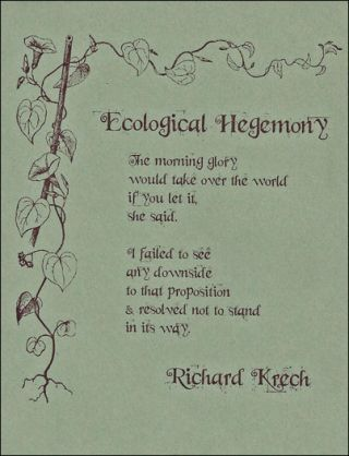Ecological Hegemony (1) w/The Feng Shui of Modern Living (2) -- Two Letterpress Cards