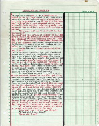 Two Original Pages of Hand-Typed Cut-Up Writings