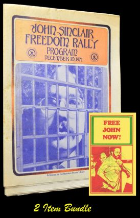 John Sinclair Freedom Rally Program: December 10, 1971 with: FREE JOHN NOW! Postcard