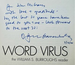 Word Virus: The William S. Burroughs Reader (Inscribed Association Copy)