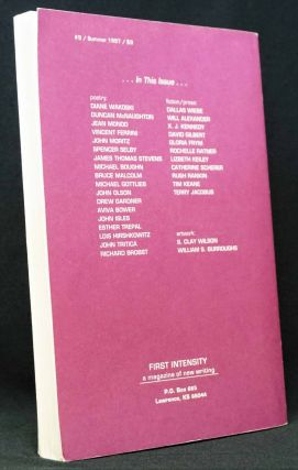 First Intensity: A Magazine of New Writing, No. 9 (Vol. 5, No. 1), Summer 1997