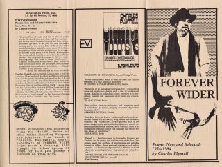 Forever Wider: Poems New and Selected: 1954-1984 by Charles Plymell w/Press Release Pamphlet